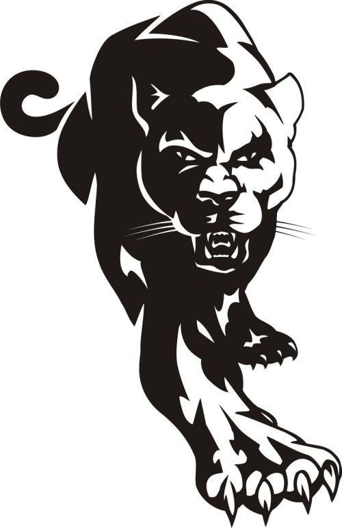 small resolution of cougar black panther mascot clipart dromggo top image