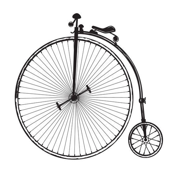 Free vintage bicycle clip art