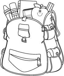 school supplies clipart black and white Clip Art Library