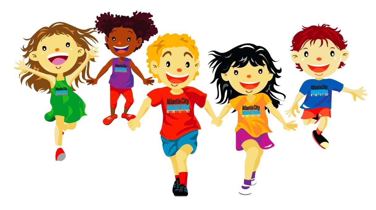 hight resolution of running student clipart