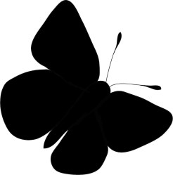 butterfly clipart silhouette Clip Art Library