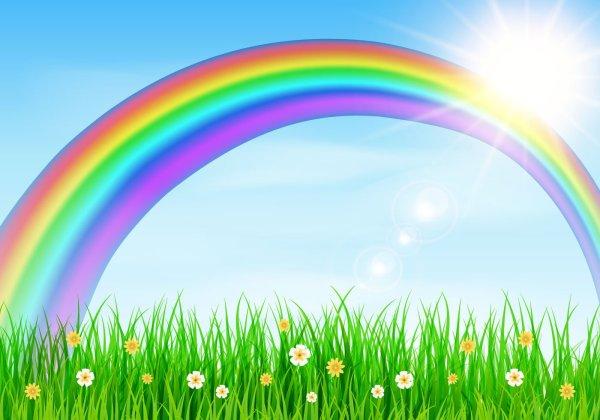 Free Rainbow Background Cliparts Clip Art