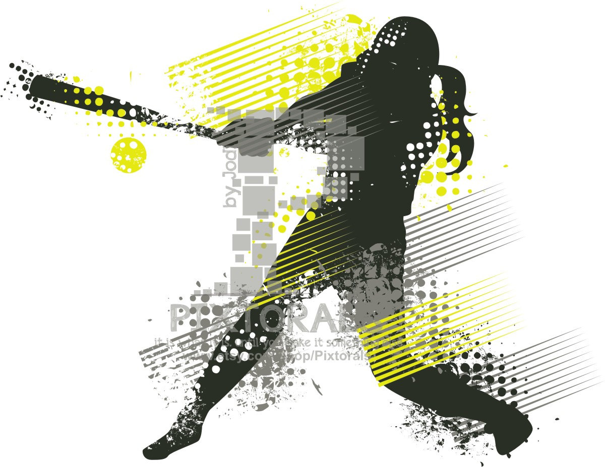 hight resolution of grunge softball cliparts 3043487 license personal use