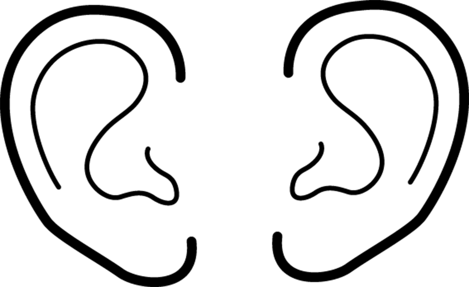 Right And Left Ear Drawing Clip Art Library