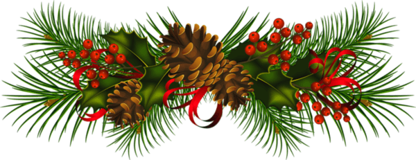 Christmas boughs clipart