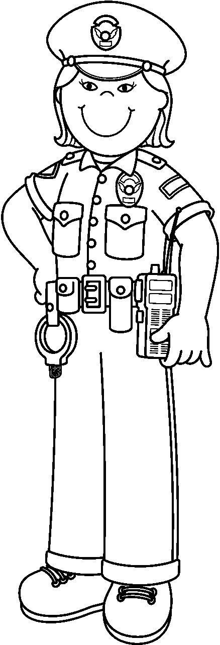 Free Police Officer Clipart Black And White, Download Free