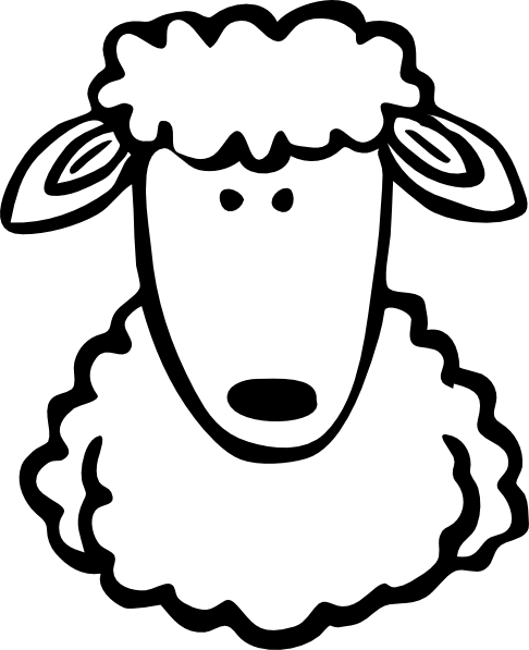 Sheep Clipart Black And White : sheep, clipart, black, white, Sheep, Black, White, Library