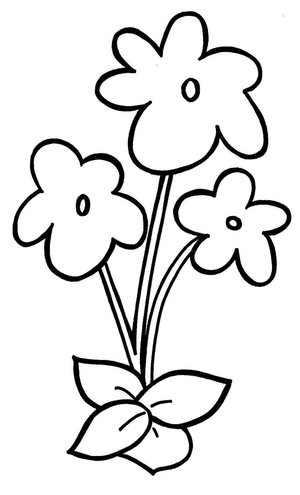 9 Best Image of Spring Flower Template Preschool