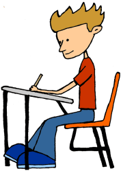 clipart student clip highschool library cliparts happy focused