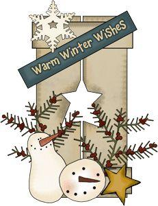 free primitive snowflake cliparts