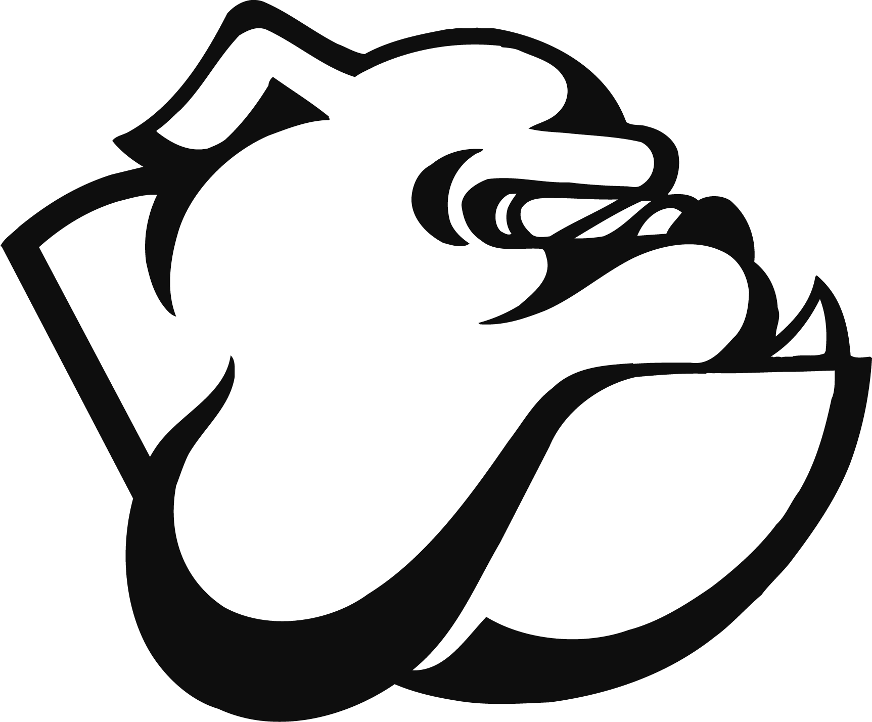 hight resolution of garfield bulldog clipart