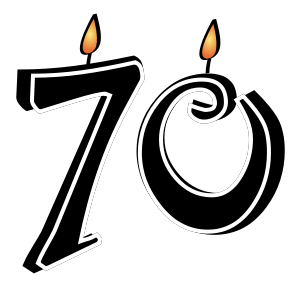 70th Church Anniversary Clipart