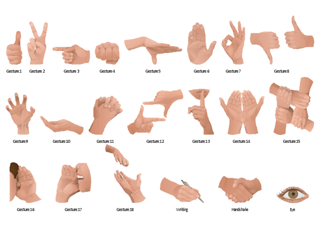 free hand gestures cliparts
