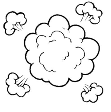 Dust cloud clip art
