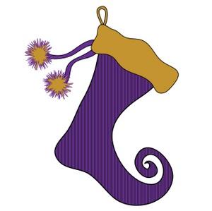 free christmas purple cliparts