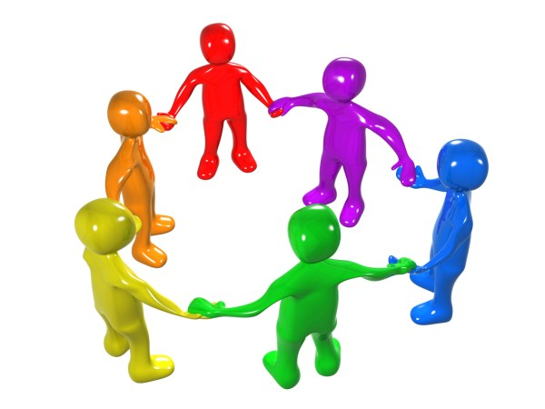 Group of People Working Together Clip Art