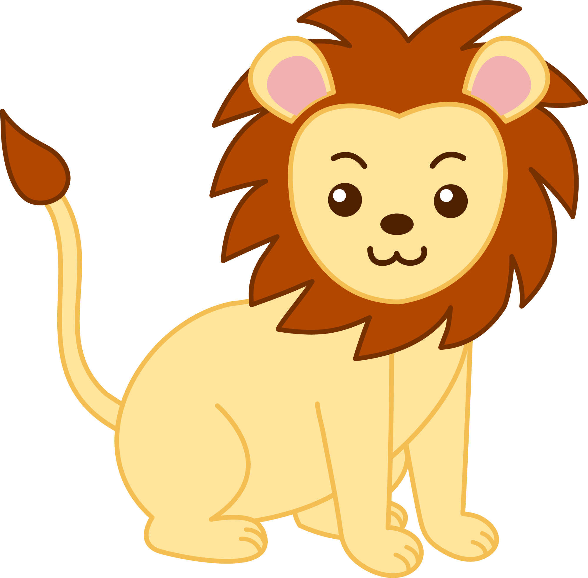 hight resolution of cute lion clipart