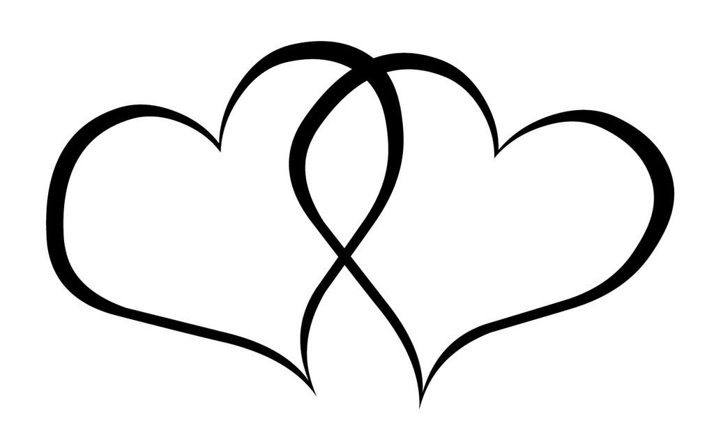 Heart clip art black and white