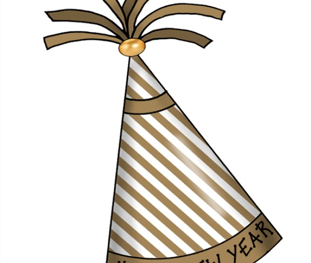 Artbyjean Paper Crafts Happy New Year Party Hats Clipart