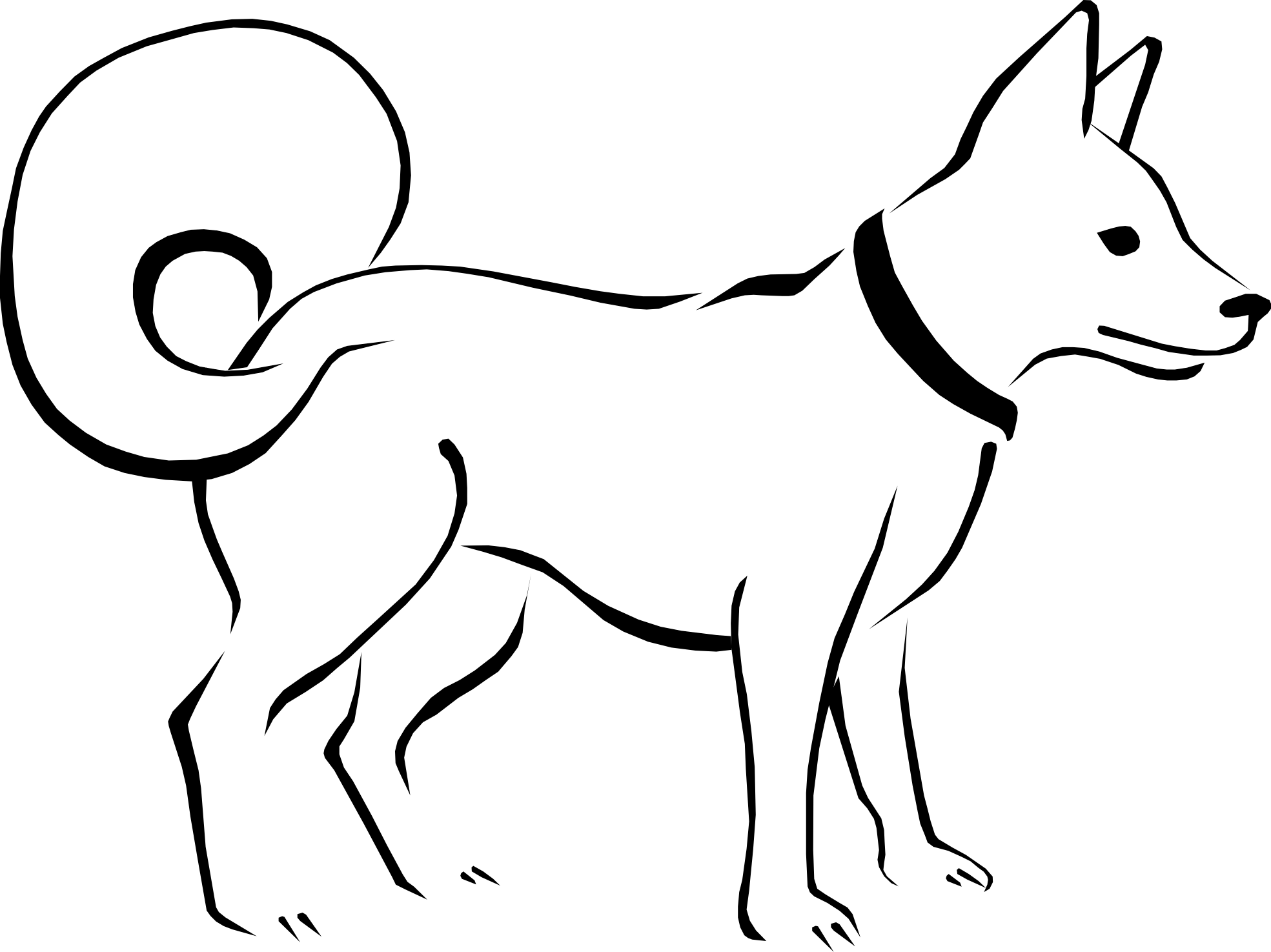Dog Clip Art Black And White Clipart Library