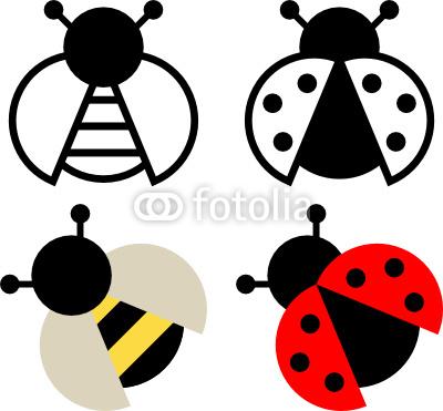 free ladybird outline