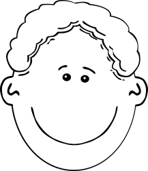 boy face clipart black and white Clip Art Library