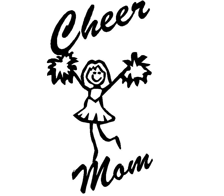 Cheer mom Adhesive Vinyl Decal, sport decals, spirit
