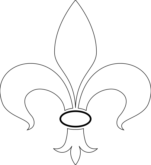 small resolution of fleur de lis vector art clipart library