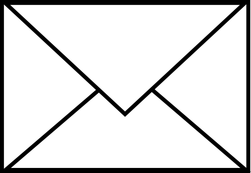 small resolution of single mail envelope free clip art