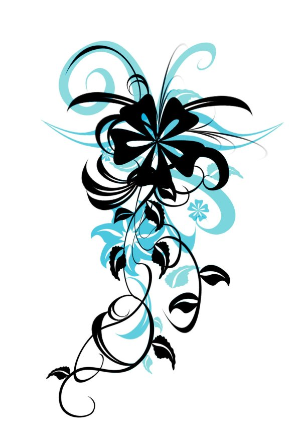 Flower Tattoo Pittyputty Clipart Library