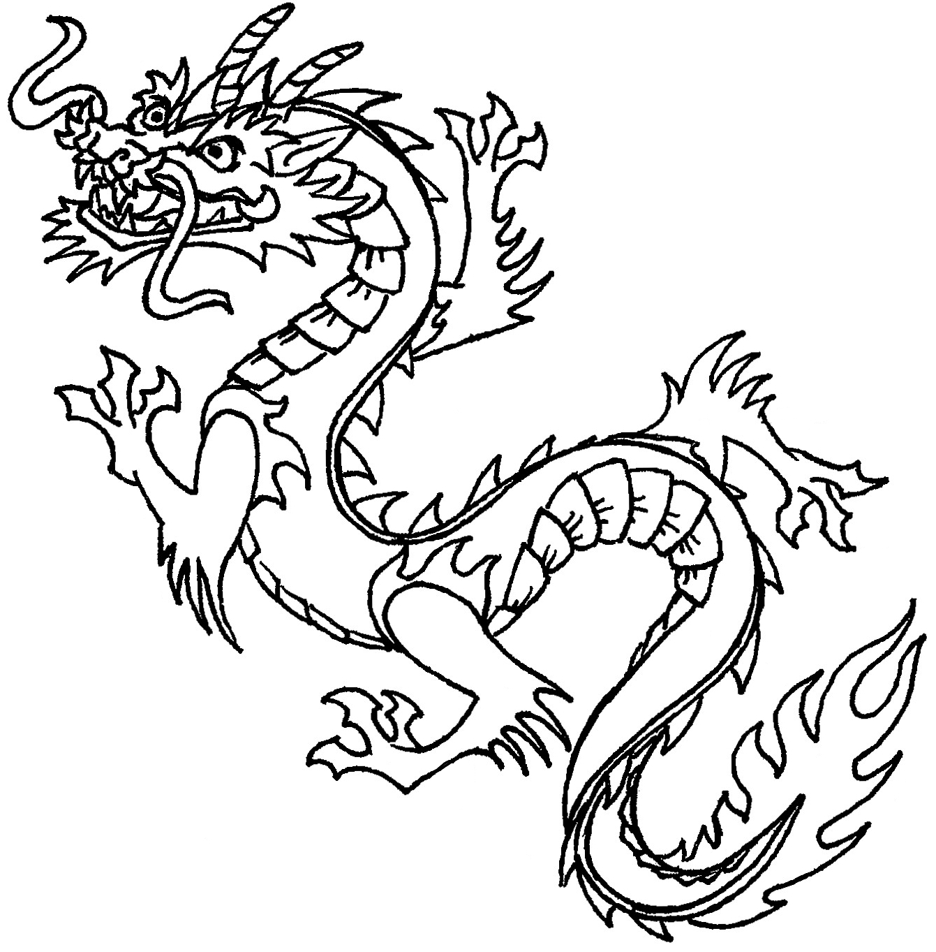 Free Chinese Dragon Images Black And White, Download Free
