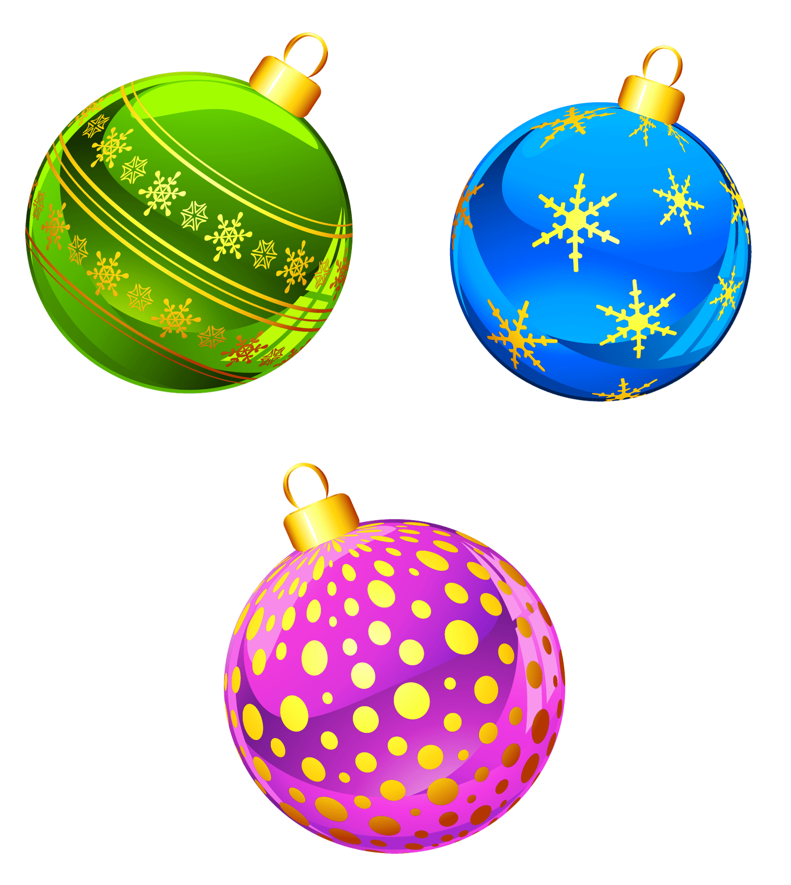 hight resolution of transparent christmas ornaments clipart