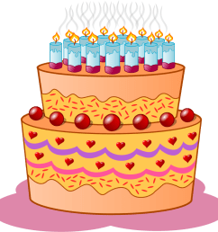 birthday cake svg vector file vector clip art svg file clipartsfree [ 900 x 883 Pixel ]