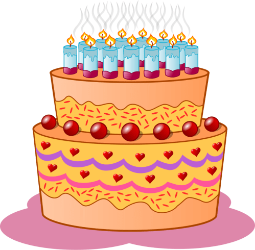 small resolution of birthday cake svg vector file vector clip art svg file clipartsfree