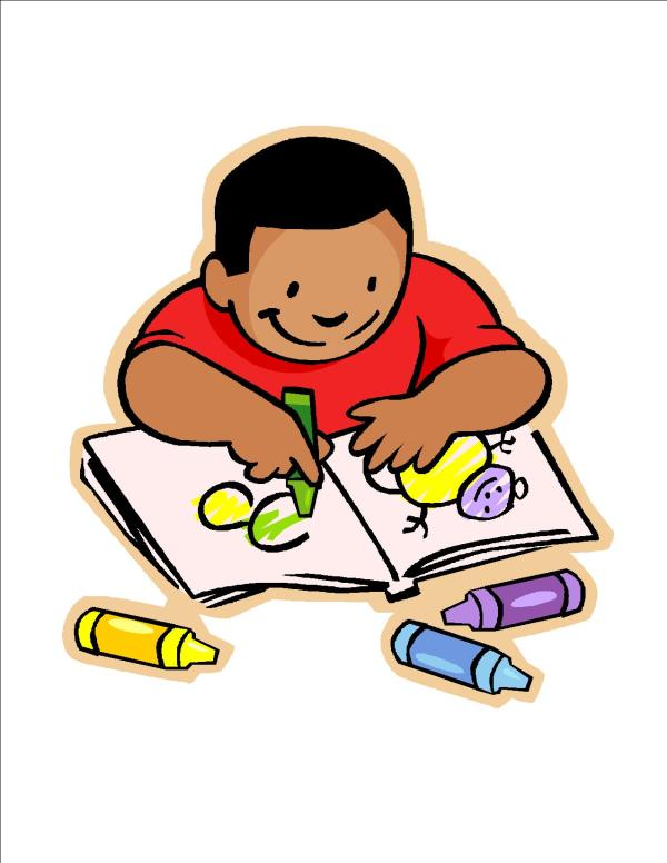 Free Of Children Writing Clip Art