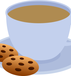 cup of coffee and chocolate chip cookies free clip art [ 4753 x 3678 Pixel ]