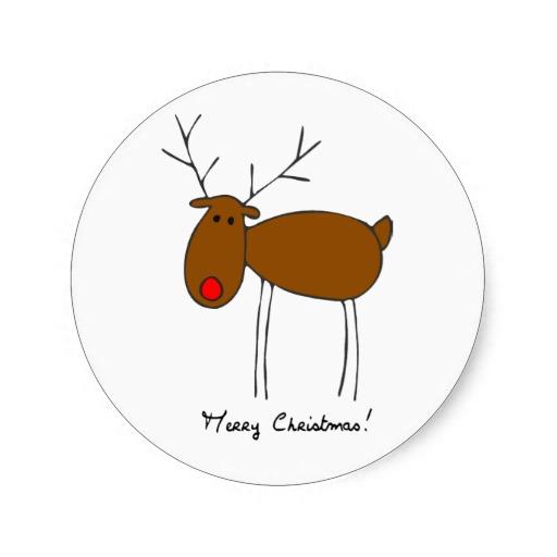 free merry christmas reindeer