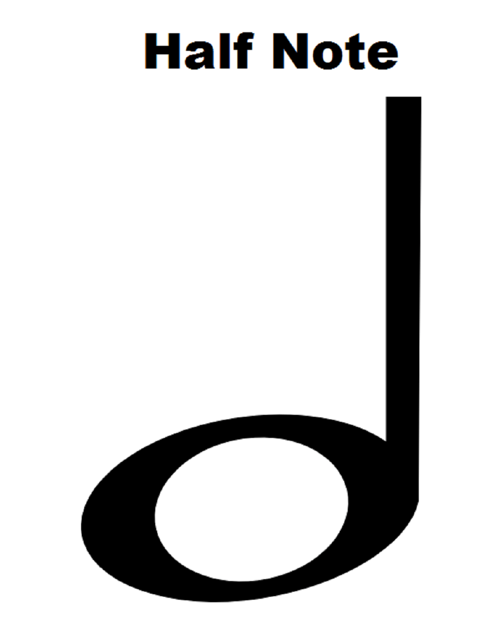 Free Half Note, Download Free Clip Art, Free Clip Art on