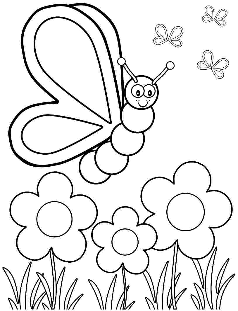Printable Coloring pages spring #62756 spring coloring