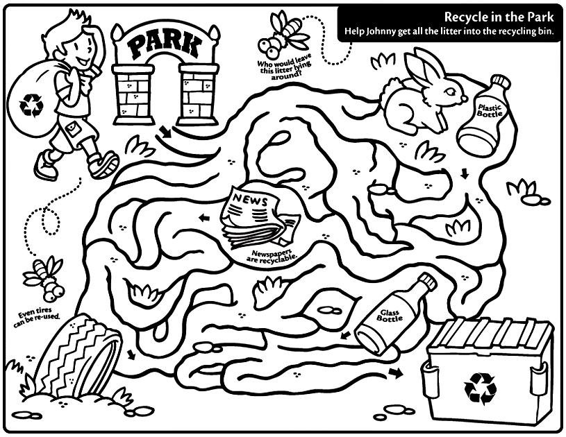 Free Recycle Coloring Pages, Download Free Clip Art, Free