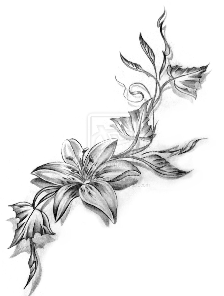 Lotus Flower Butterfly Tattoo Designs