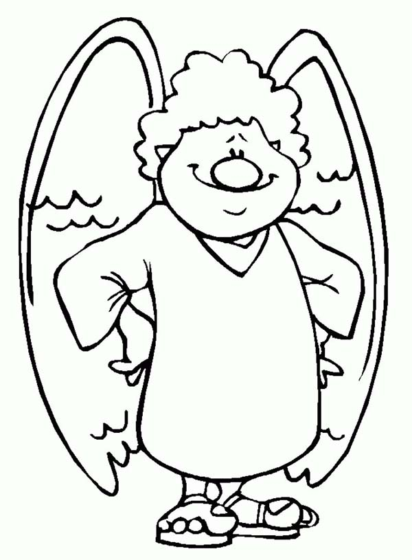 Angels with Big Nose Coloring Page: Angels with Big Nose