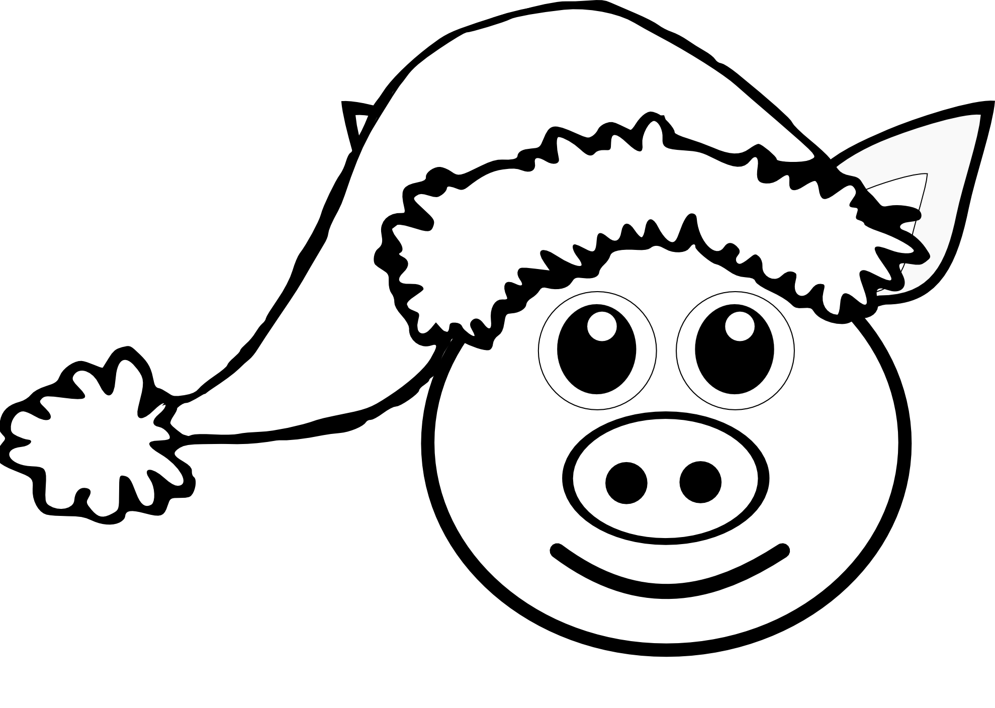 Free Pig Line Art Download Free Clip Art Free Clip Art