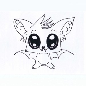 animal drawings draw library clipart clip bat