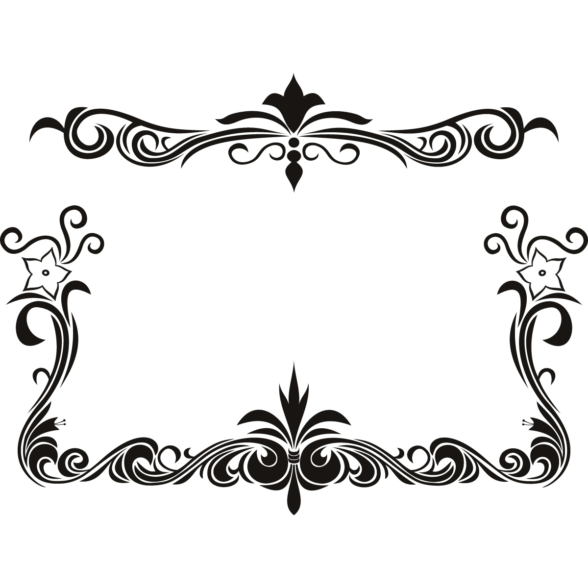 Free Page Border Designs For Projects With Flowers