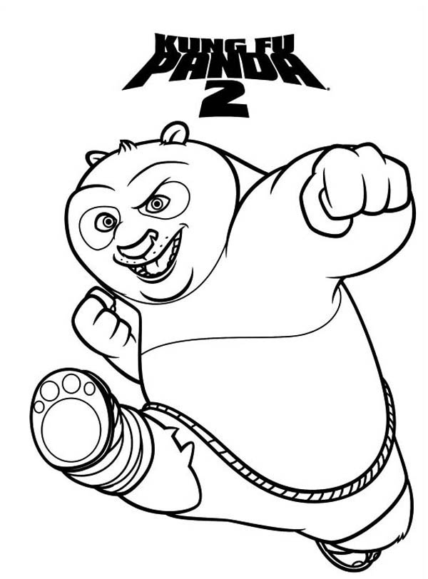 Amazing Dragon Warrior of Kung Fu Panda Coloring Page: Amazing