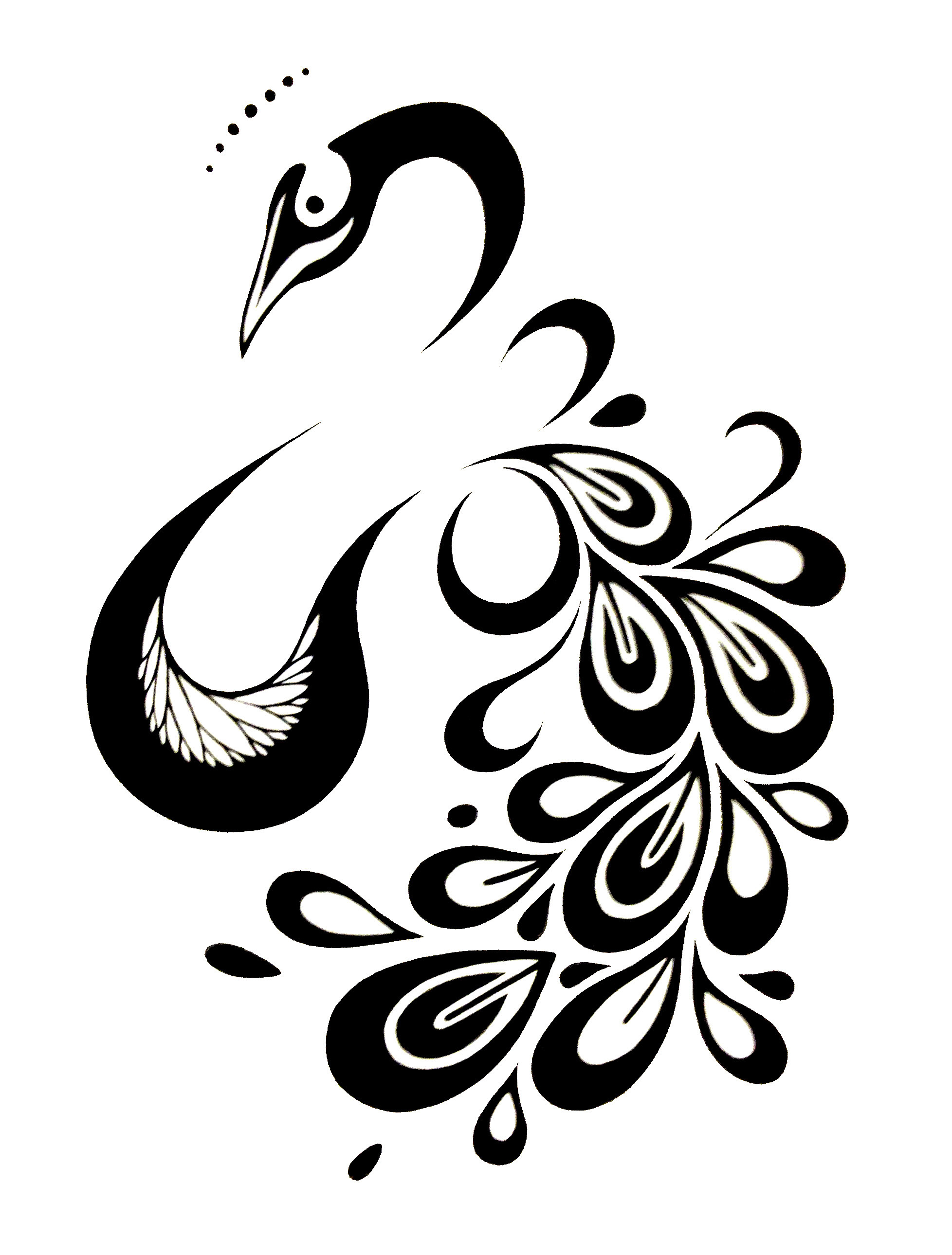 Free Black And White Peacock Designs Download Free Clip