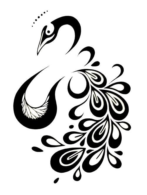 small resolution of peacock tattoo design imgur