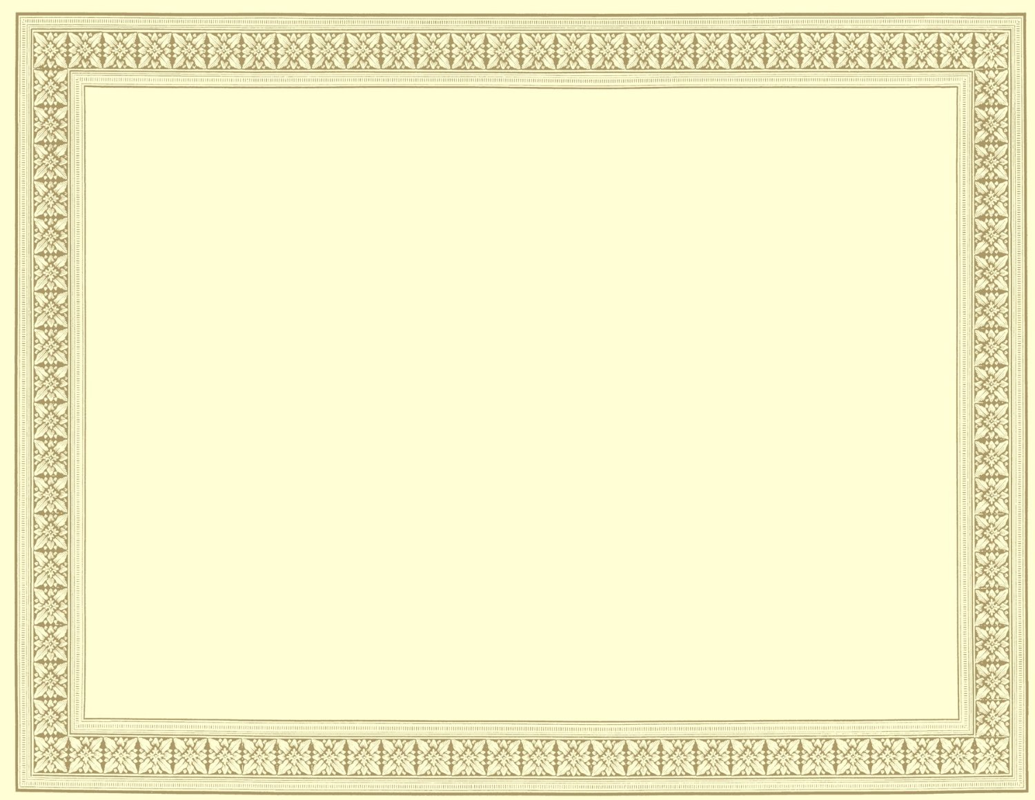 free certificate borders download
