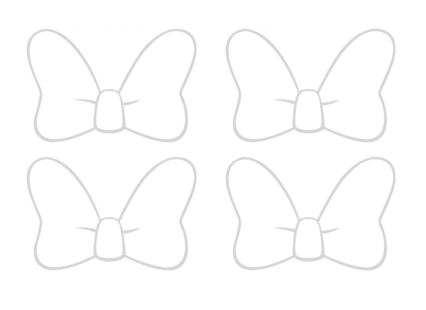 Free Minnie Mouse Bow Outline, Download Free Clip Art